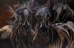 The ghost horses  2012  80cm x 120cm  Not for sale
